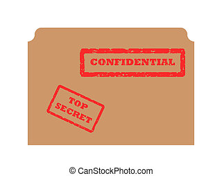 Secret and Confidential stamp - Red secret and confidential...