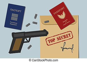 Secret documents, fake passports, gun and bullets - spy ...