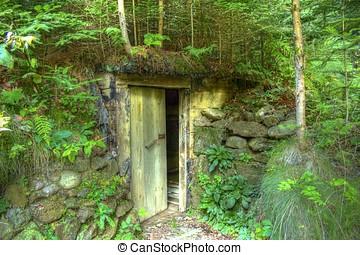 Secret doors in forest