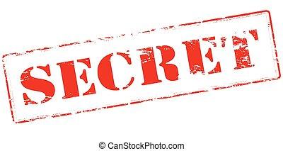 Secret - Rubber stamp with word secret inside, vector...