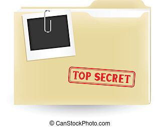 secret file - The secret files, closed yellow folder with...