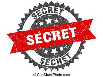 secret grunge stamp with red band. secret