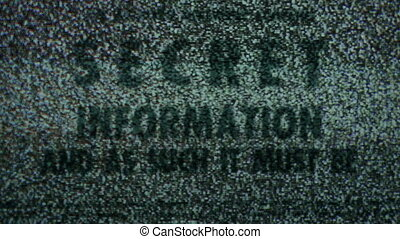 Secret info on tv static