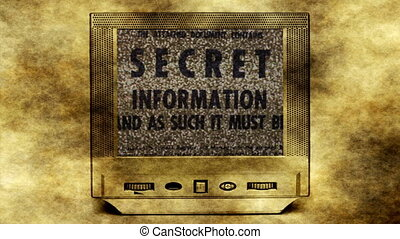 Secret information on vitage tv
