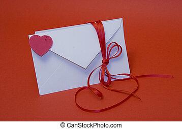 Secret message of love - Saint valentine message in envelope