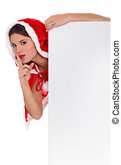 Secret Miss Santa and a board left blank for your message