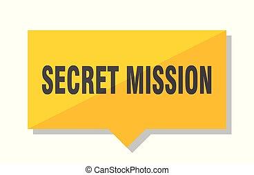 secret mission price tag - secret mission yellow square...