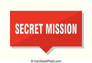 secret mission red tag - secret mission red square price tag