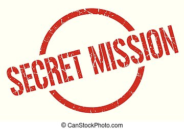 secret mission stamp - secret mission red round stamp