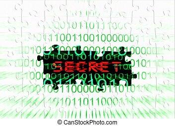 Secret puzzle concept