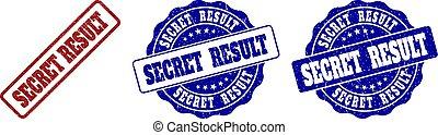 SECRET RESULT Grunge Stamp Seals