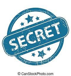 SECRET round stamp
