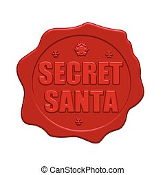 Secret Santa red wax seal