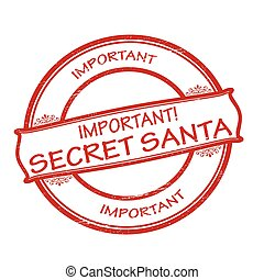 Rubber stamps with text secret Santa inside, vector illustration