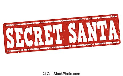 Secret Santa stamp