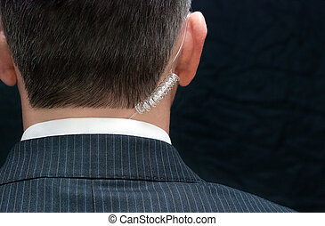 Secret Service Agent, Behind - Close-up of a secret service...