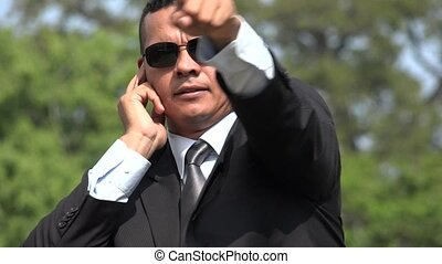 Secret Service Agent Undercover Pointing