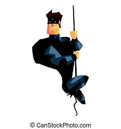 Secret Service Male Agent Undercover Descending Rope....