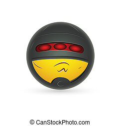 Secret Smiley Agent Icon - Creative Abstract Conceptual...