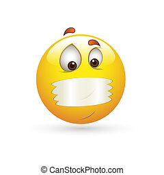 Secret Smiley Emoticons Face Vector