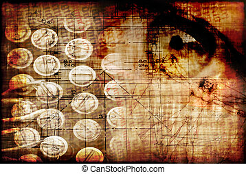 Secret - Concept of technology secret with grunge feeling...