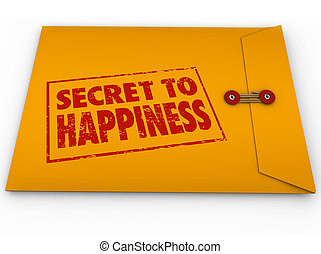 Secret to Happiness Yellow Envelope Tips Advice Enjoy Life