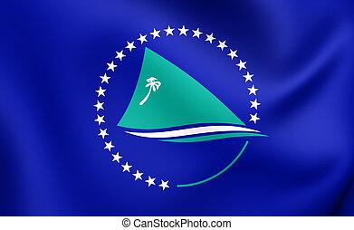 Secretariat of the Pacific Community Flag. Close Up.