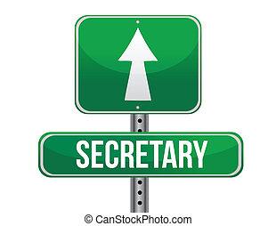 secretario, diseño, camino, ilustración, señal