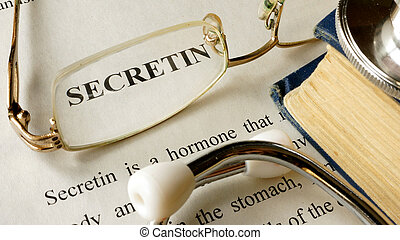 Secretin written on a paper.