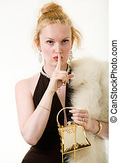 Secretive Woman
