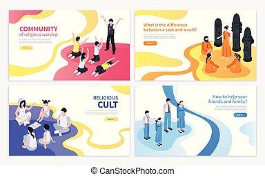secte, religieux, concept, conception