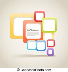 secteur, couleur, résumé, contenu, boîtes, fond, vide, n'importe quel