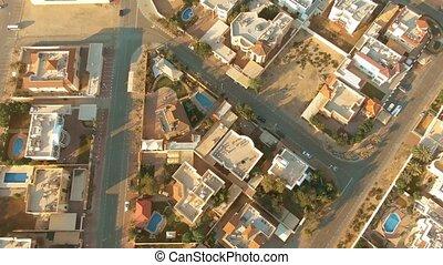 secteur, uae, résidentiel, prise vue aérienne, dubai