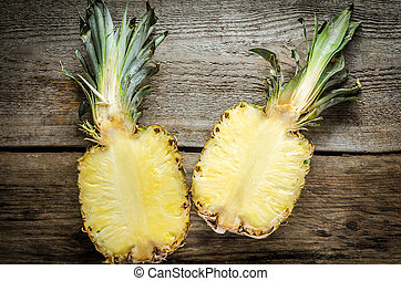 section, croix, ananas