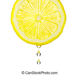 Section lemon with drop
