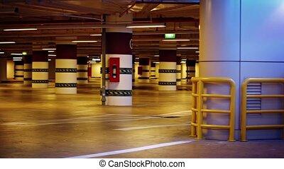 section, numérique, lourd, stationnement, souterrain, colonnes, devoir, structural, garage, identifiers, barrières