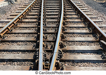 Section of parallel rail track. - Short section of railway ...