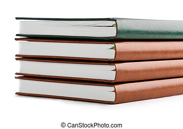 section of stack of book