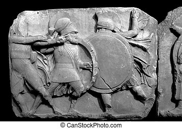 Elgin Marbles - Section of the Elgin Marbles depicting ...