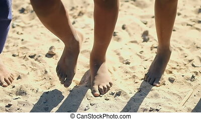 section, pieds nue, bas, garçon, 4k