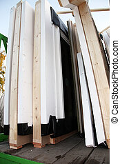 Sections of a new build timber house