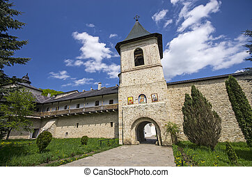 Secu monastery surrounding walls