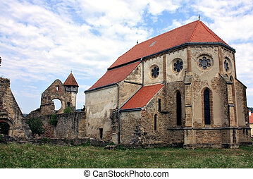 Secular church - Scene from a side of cistercian church from...