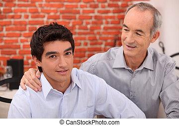 secundario, el suyo, nieto, hombre