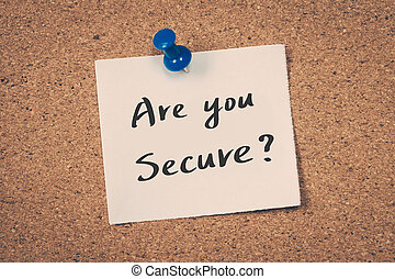 secure?, あなた