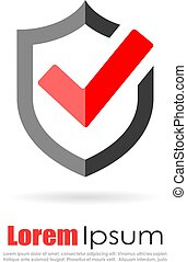 Secure abstract logo
