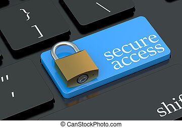 Secure Access keyboard button