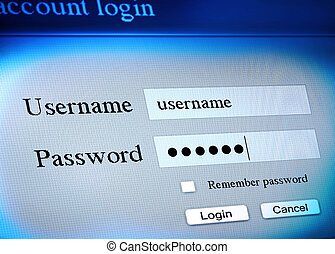 account login sequence - secure account login sequence