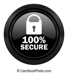 secure black icon