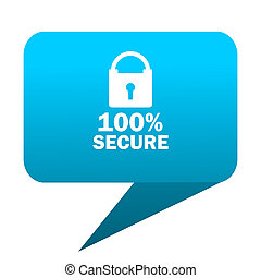 secure blue bubble icon